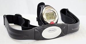 Cardiofréquencemètre et ceinture pectorale de transmission SAI de qualité exceptionnelle. Conçu pour l'exercice physique, le sport, la course à pied, le footing et toutes sortes d'activités en plein air. Fonctions de données, de chronomètre, de chronographe et d'alarme.