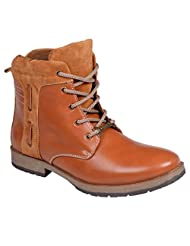CNS Men's Casual Tan Synthetic Leather Boot - B016ABGEBQ