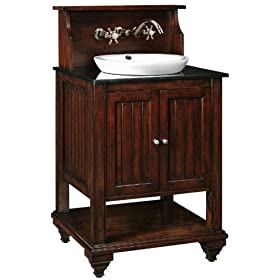 "Virginian Sink Cabinet Vanity, 47""Hx25""W, DISTRESSED BRWN"
