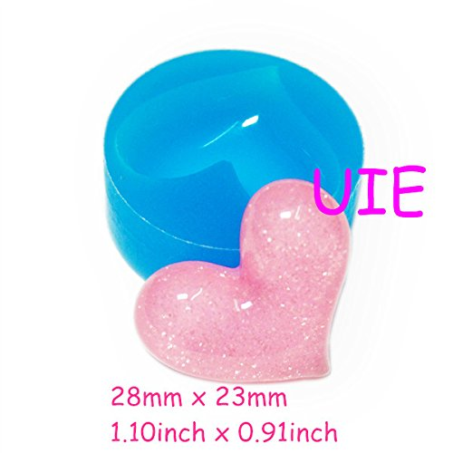 119LBP Cute Heart Silicone Flexible Mold - Cake Decoration Bakeware Polymer Clay Cabochon Molds, Jewelry Mold Resin Mould (Resin Molds Heart compare prices)