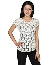 Fashion Tadka West White Casual Top For Women