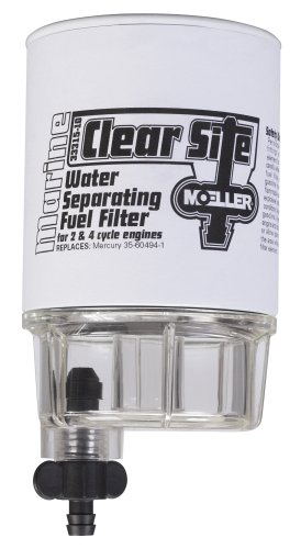Moeller Clear Site Water Separating Fuel Filter System Replacement Filter and Water Collecting Bowl