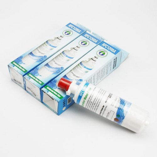 Rfc-1200A 3 Pack Compatible Water Filter For Lg Models: Adq36006101 ; Adq36006101-S ; Adq36006101S ; Adq36006102 ; Adq36006102-S ; Adq36006102S ; Lt700P ; Kenmore Model 469090 ; Water Sentinel Model Wsl-3 By Onepurify. front-191294