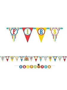 Fisher Price Circus 1st Birthday Letter Banner Hanging First Party Supplies by Amscan