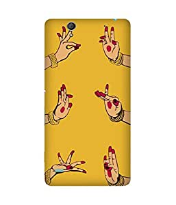 Indian Dance Hand-1 Sony Xperia C4 Printed Back Cover