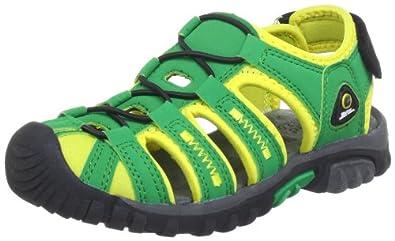 Killtec Azar Jr 20604-000, Unisex-Kinder Sandalen, Grün (grün/neon grün 00700), EU 36