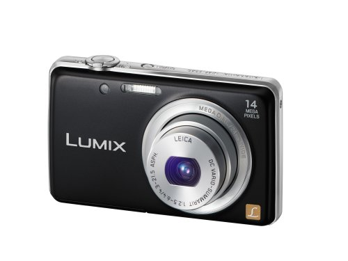 Panasonic DMC-FS40EB-K Black 14 Megapixal Camera with F2.5 LEICA Lens and 5x Optical Zoom