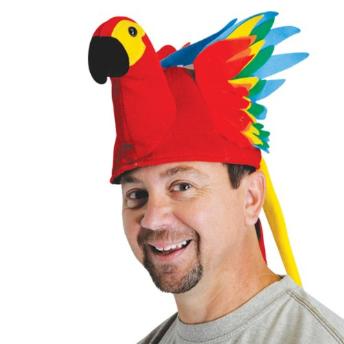 Plush Parrot Hat Party Accessory (1 count) (1/Pkg)