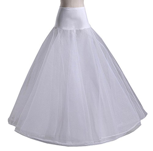 White Bridal Petticoat for A Line Wedding Dress Gown