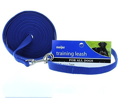 blue-20-ft-training-dog-leash-long-obedience-recall-foot-feet-by-meijer-distribution-inc
