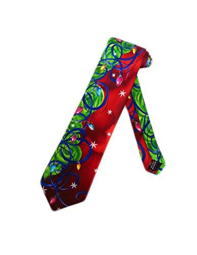 Jerry Garcia Christmas Tree Necktie - Red - One Size Neck Tie (Jerry Garcia Christmas Ties compare prices)