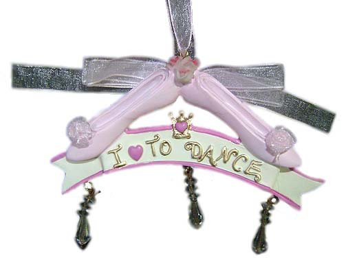 I Love To Dance Pink Ballet Shoes Christmas Ornament J4186