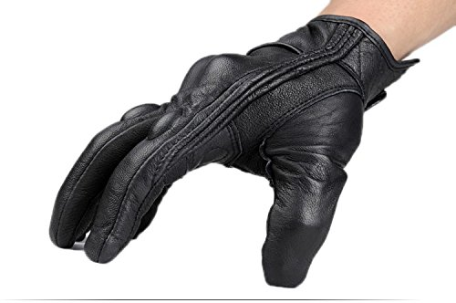 Size L Retro Motorcycle racing gloves Motocross Waterproof Moto full finger glove Windproof leather Touch gloves 6