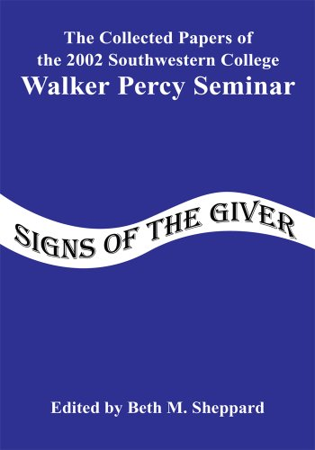 walker percy essays Use walker percy's essay the loss of the creature to discuss the role of education in society in comparison to paolo freire's essay the banking concept of education.