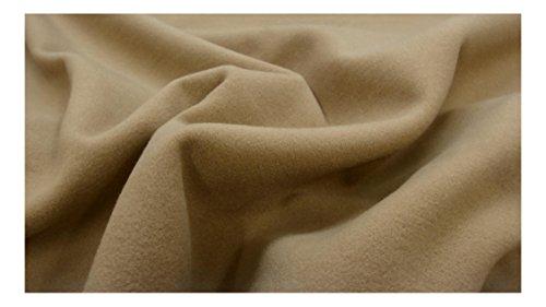 Fabrics-City marrone chiaro morbido cappotto di facile manutenzione Tessuto like-wool tessuto tessuti, 3389
