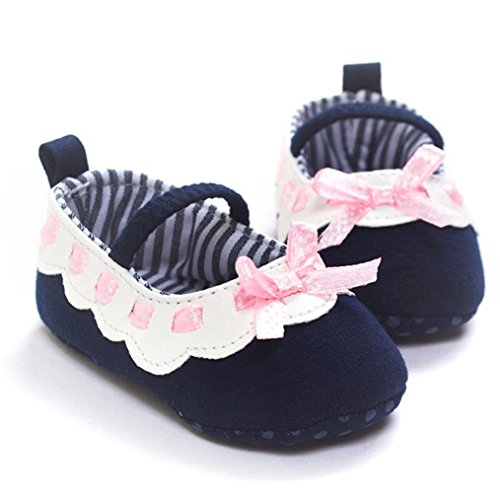 Ecosin-Girl-Bowknot-Ribbon-Anti-slip-Soft-Sole-Mary-Jane-Shoes-0-6month-Navy