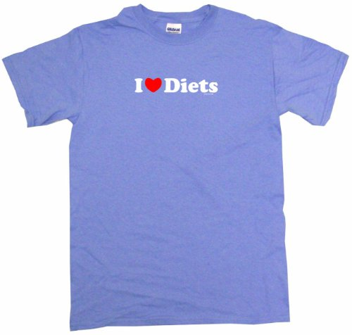 I Heart Love Diets Women's Tee Shirt XL-Light Blue-Regular