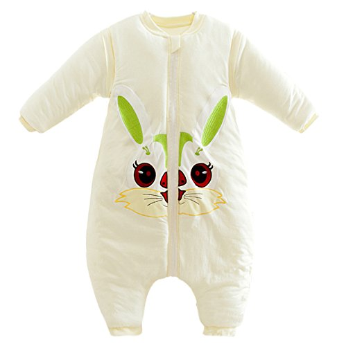 Cotton Sleepsack Baby Thicken Cotton Sleepwear Winter Toddler Romper with Removable Sleeves footies