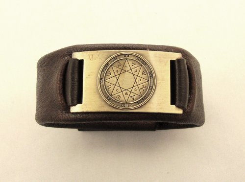 Protection Seal of Solomon Leather Bracelet, Hand Made