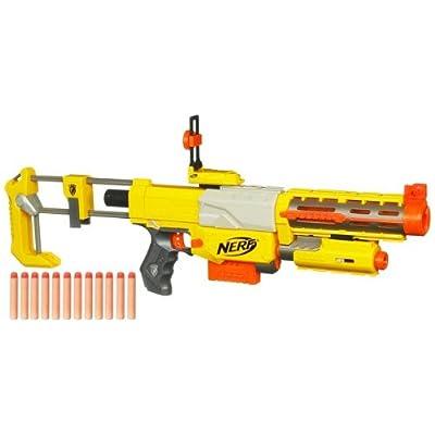 Nerf - 28512 - N-Strike Recon CS-6 - baue Deinen eigenen Blaster aus 5 Interchangeable Parts - mit Light Beam - Special Pack mit 12 Darts