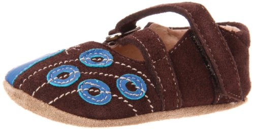 Livie & Luca Baby Peacock Mary Jane (Infant/Toddler),Brown Suede,0-6 Months (2 M Us Infant) front-673240