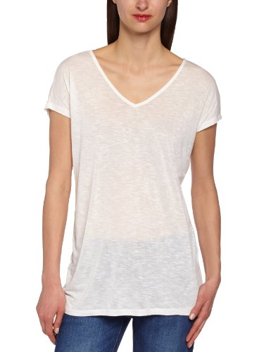 Only Damen T-Shirt HELENA SS TOP JRS B, Rundkragen, Uni, Weiß (Cloud Dancer), 32 (Herstellergröße: XS)