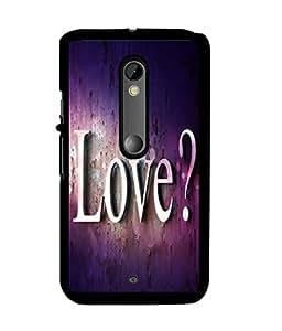 Fuson 2D Printed Love Designer back case cover for Motorola Moto X Play - D4476