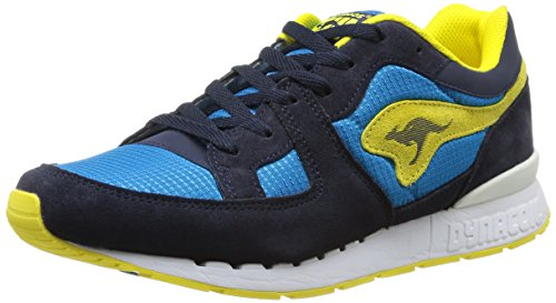 Kangaroos - Sneaker 47015 Uomo, Blu (Bleu (Dk Navy/Acid Yellow 477)), 41