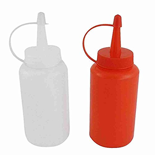 2 Stück Kunststoff-Squeeze Sauce Salat Oil Cap Empty Bottle Dispenser 170ml