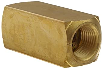 "Parker 003393003 339 Series Brass Check Valve, 1/2"" NPT Female"