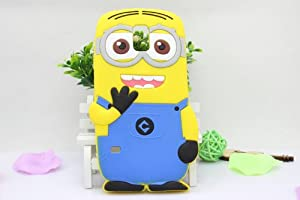 Able® 3D Despicable Me Silicone Case Cover for Samsung Galaxy S5/sv/i9600 (Blue, 2 Eye)