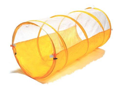 Sunshine Yellow Development Crawl Play Tunnel W/ Meshing & Tote Bag