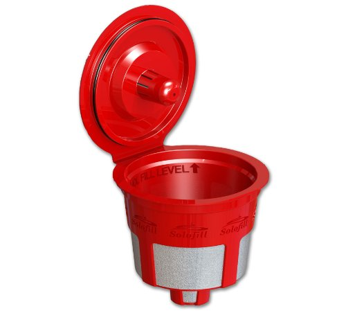 Solofill Cup, Refillable Cup For Keurig K-Cup Brewers, Red