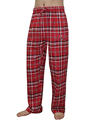 NFL Tampa Bay Buccaneers MENS Plaid Fall / Winter Pajama Pants