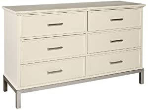Dresser Metal Base with Moonbeam White Finish by Howard Miller - 951101MW