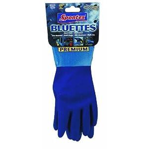 Spontex Neoprene Gloves Blue Neoprene Coating,Cotton Knit Lining Medium - 1 pair