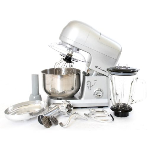 POWERFUL 1200W 3 IN 1 FOOD STAND MIXER 5.5L IN SILVER BY CHARLES JACOBS from Charles Jacobs