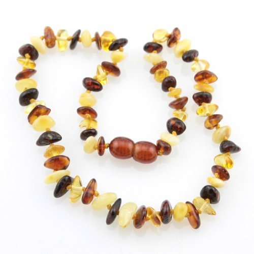 Certified Baltic Amber Teething Necklace for Baby (multi chip) - Anti-inflammatory