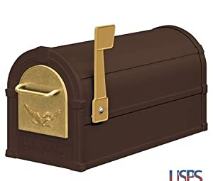 Eagle Rural Mailbox Color: Bronze / Gold