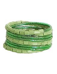 Green Beaded Adjustable Ring - Beads - B00K4FYBJ2