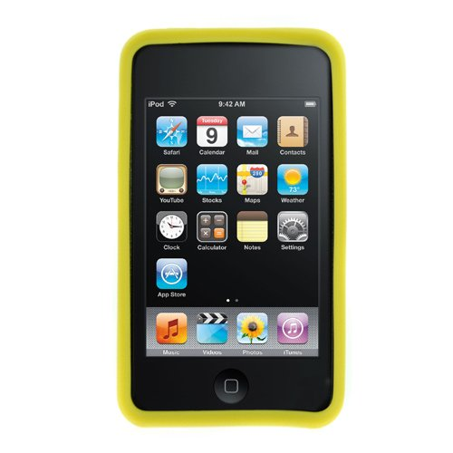 GTMax Yellow Soft Rubber Silicone Skin Cover Case For Apple iPod touch 8GB