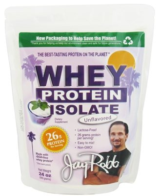 Jay Robb - Whey Isolate Protein Powder - Whey Protein Isolate as the protein source