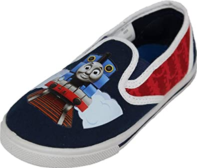 "Thomas & Friends Toddler Boys ""Train Track"" Slip-on Shoes Sneakers 5"