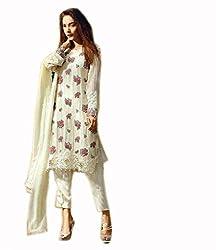Kashmira's pakistani georgette embroidered suit