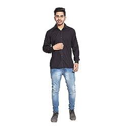Fpc Creations Men's Formal Shirt (Medium, Black)
