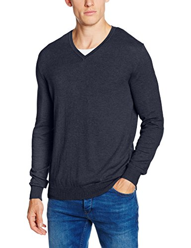 Celio Fever, Felpa Uomo, Bleu (Heather Navy), Medium