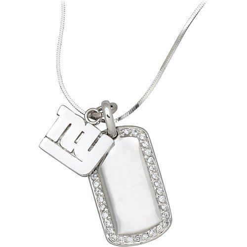 LogoArt New York Giants Sterling Silver 7/8 Inch Dog Tag