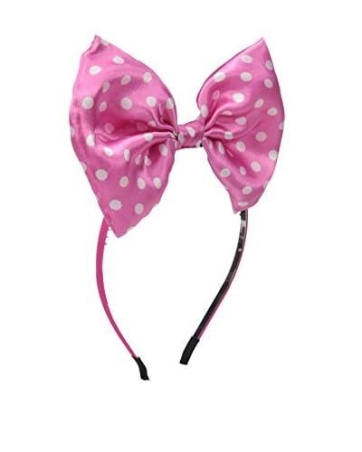 Maniere Kid's Fun Play Mini Bow Headband, Pink/White