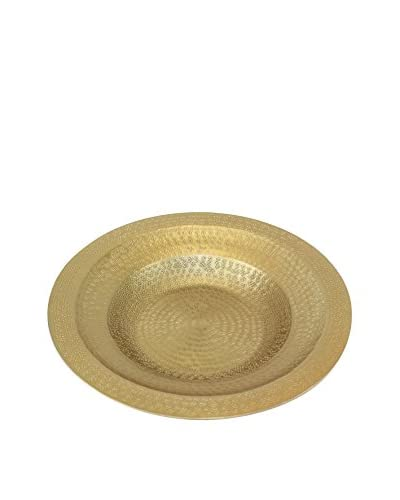 Pampa Bay Elegant Brass-Finished Medium Platter