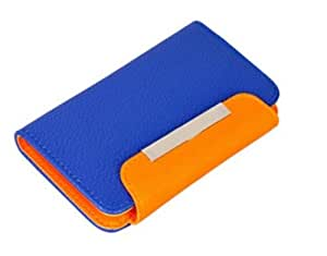 DNG Apple iPhone 5C Leather Flip Wallet Case Cover Pouch Table Talk New Blue